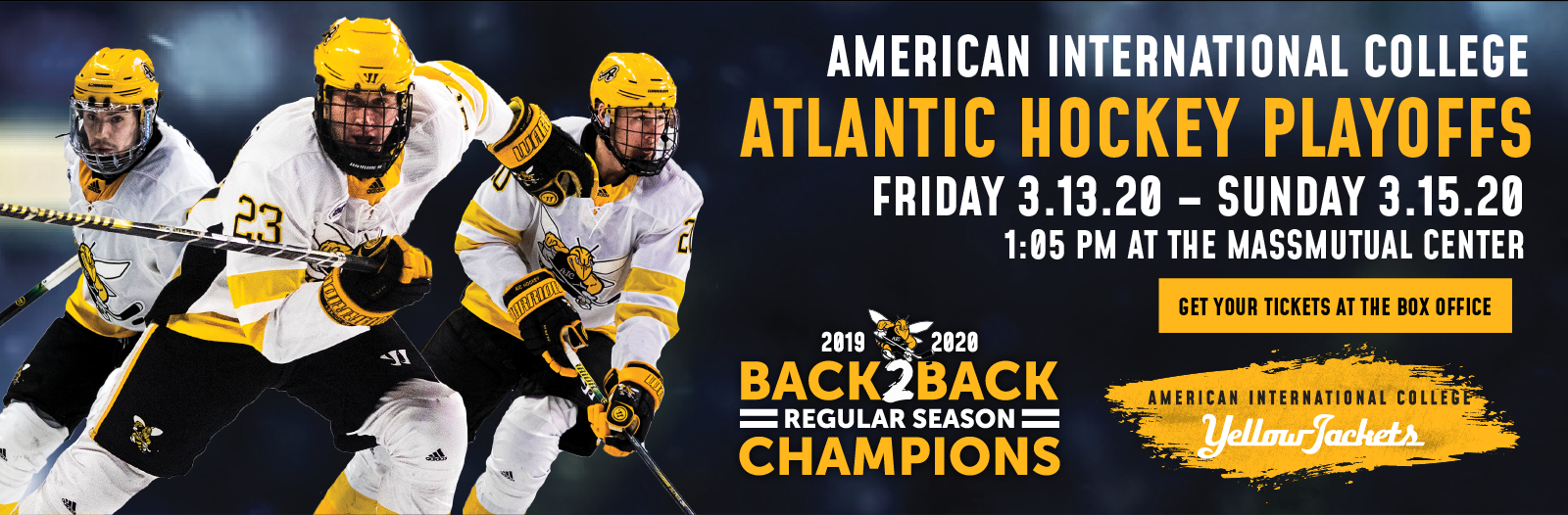AIC Hockey: Atlantic Hockey Quarterfinals Game 1