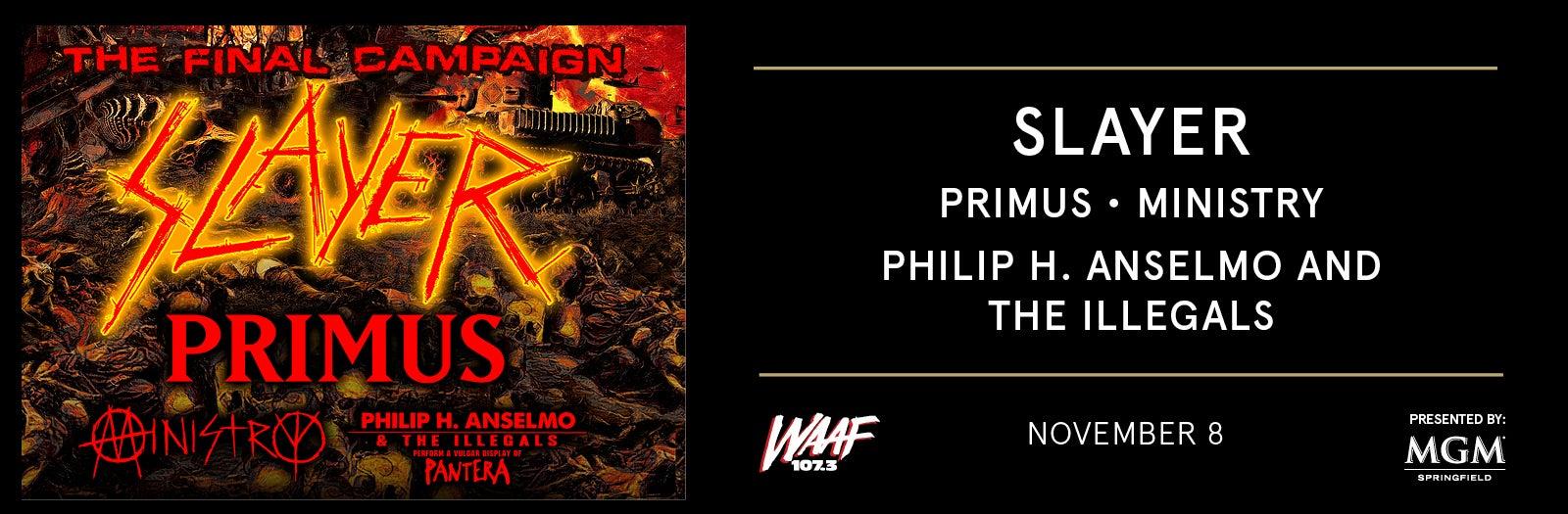 Slayer Tour 2020.Slayer The Final Campaign Massmutual Center
