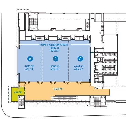 MassMutual Center Ballroom Level 1 Map