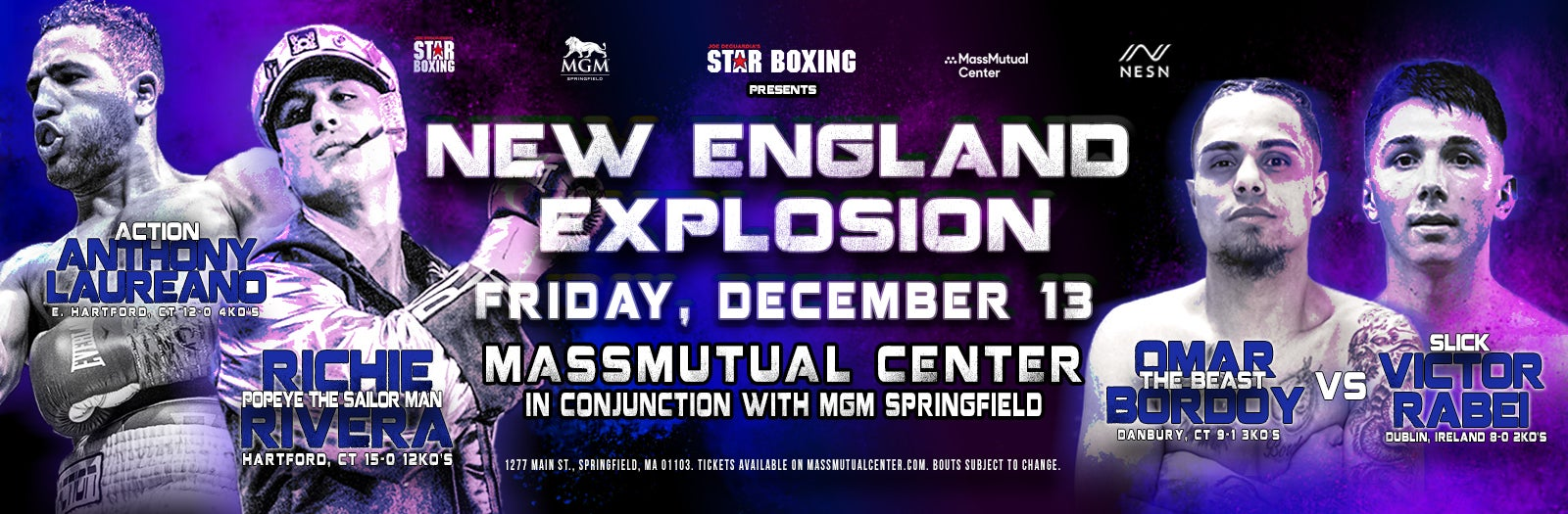 Star Boxing Presents New England Explosion