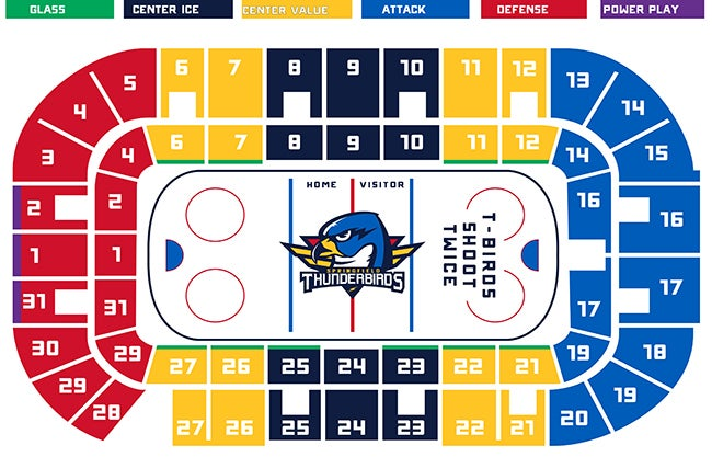 T-Birds Seating Chart