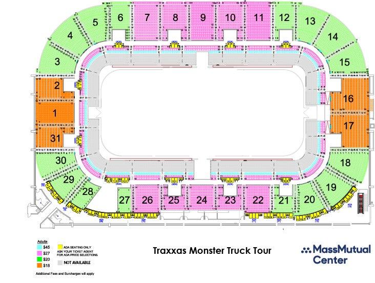 Traxxas Monster Truck Tour Massmutual Center